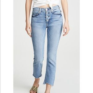 McGuire High Waisted Cropped Gainsburg Jeans